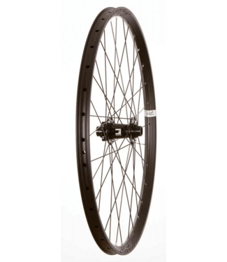 Wheel Shop, Front 27.5'' Wheel, 32H Black Alloy Double Wall Fratelli FX25 Disc/ Black Factor DH 20x110mm TA Six Bolt Disc Hub, DT Black Stainless Spokes