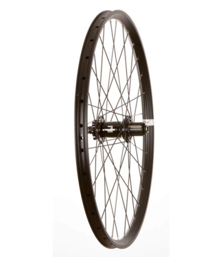 Wheel Shop, Rear 27.5'' Wheel, 32H Black Alloy Double Wall Fratelli FX25 Disc/ Black Factor DH 12x150 or 12x157mm TA 9-11spd Six Bolt Disc Hub, DT Black Stainless Spokes
