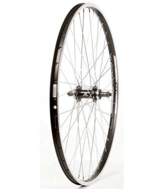 Wheel Shop, Alex Ace17 Black/ Joytech D242DSE, Wheel, Rear, 26'' / 559, Holes: 36, QR, 135mm, Rim and Disc IS 6-bolt, Freewheel