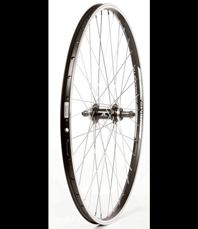Wheel Shop, Alex Ace17 Black/ Joytech D242DSE, Wheel, Rear, 26'' / 559, Holes: 36, QR, 135mm, Rim and Disc IS 6-bolt, Freewheel