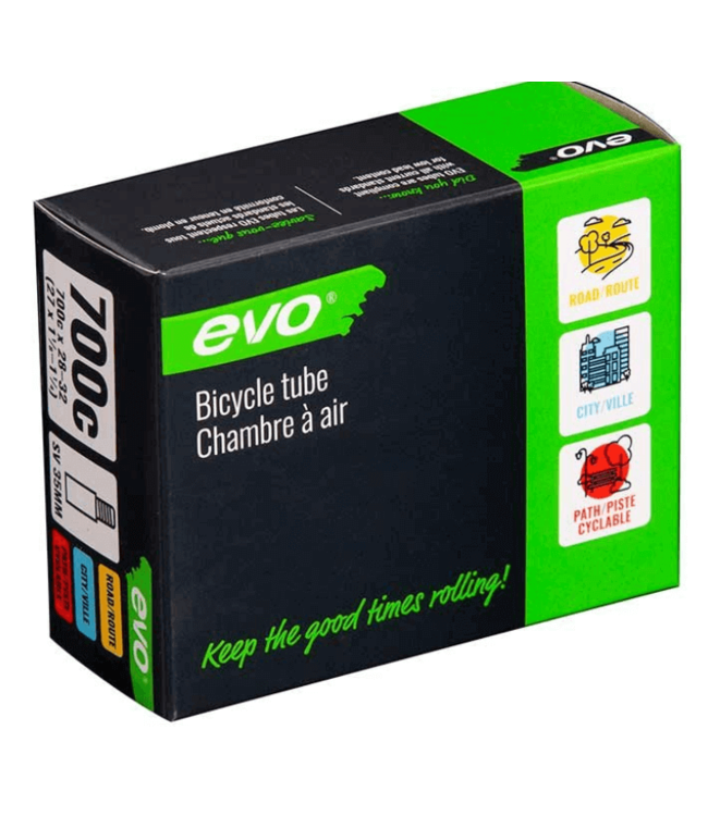 EVO EVO, SV, Tube, Schrader, Length: 48mm, 700C, 28-32C