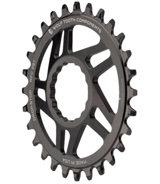 Wolf Tooth Wolf Tooth, Drop-Stop, 26T, 11sp, Direct, Chainring, For Race Face Cinch, 7075-T5, Aluminum, Black