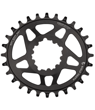 Wolf Tooth Wolf Tooth components, SRAM Boost Elliptical, Chainring, Teeth: 28, Speed: 9-12, BCD: Direct Mount, Aluminum, Black