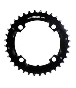 SRAM SRAM, 36T, 10 sp, BCD 104mm, 4-Bolt, Outer Chainring, For MTB double, Aluminum, Black, 11.6215.188.320