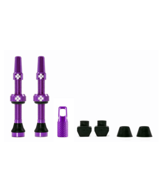 Muc-Off Muc-Off, Tubeless Valve, Presta, 44mm, Purple, Pair