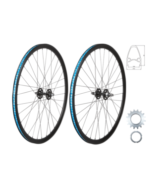 49N, Wheel Rear Track 700C, FX/FR, Black