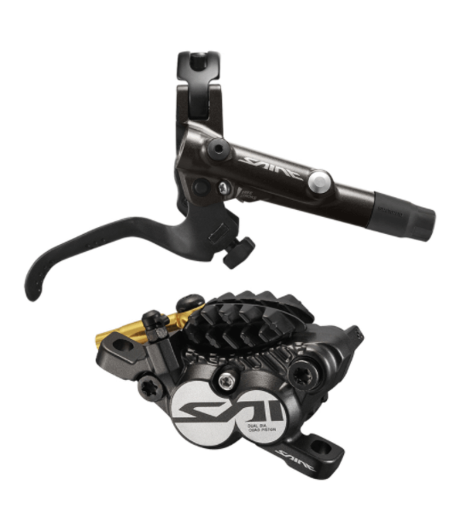 Shimano Shimano, Disc Brake Assembled Set, J-Kit, Saint, BL-M820-B(R), BR-M820(R), Metal Pad (W/FIN)