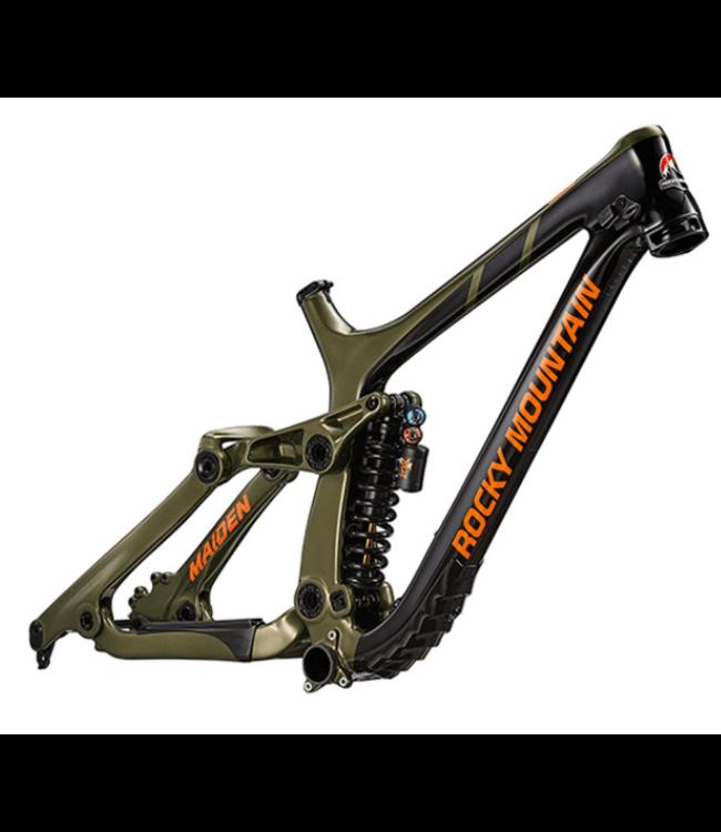 Rocky Mountain Bicycles Rocky Mountain, Maiden Carbon Frame 2019, Black/Green, S