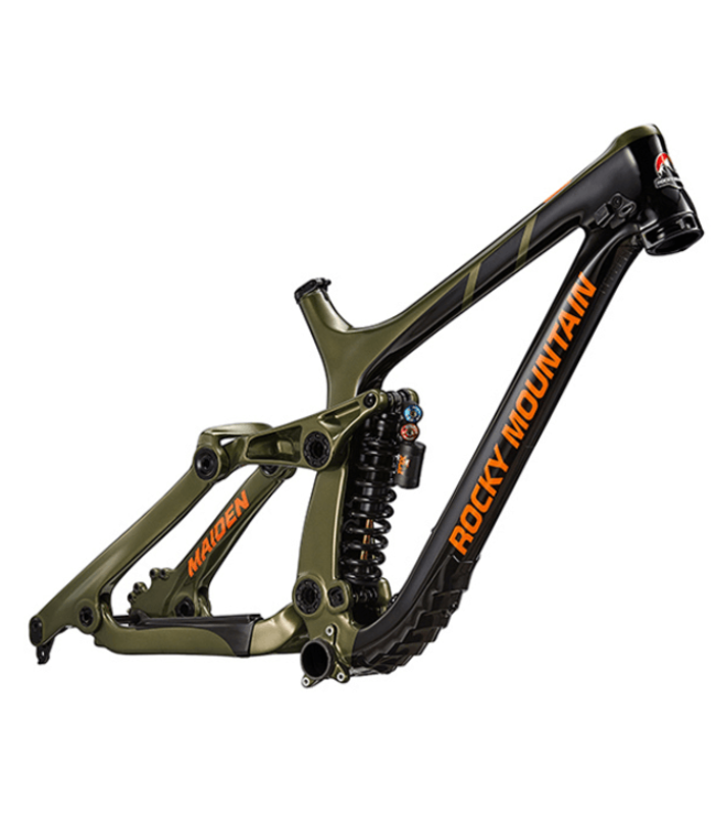 Rocky Mountain Bicycles Rocky Mountain, Maiden World Cup Carbon Frame 2019, Black/Green, Small