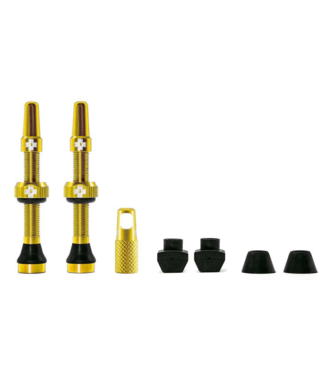 Muc-Off Muc-Off, Tubeless Valve, Presta, 60mm, Gold, Pair