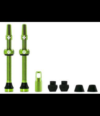 Muc-Off Muc-Off, Tubeless Valve, Presta, 60mm, Green, Pair