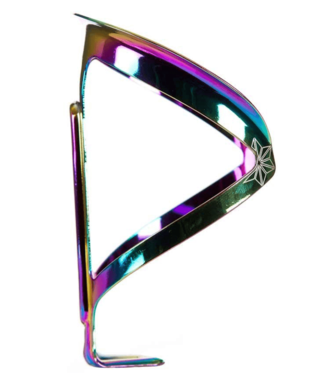 Supacaz, Fly Cage Ano, Bottle Cage, Aluminum, Oil Slick, 18g