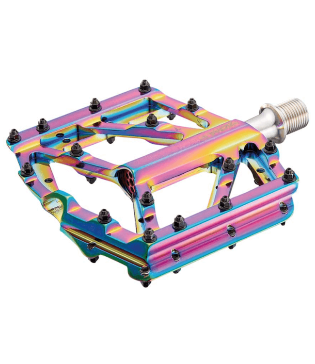 Supacaz, Orbitron, Platform Pedals, Body: Aluminum, Spindle: Cr-Mo, 9/16'', Multicolor, Pair