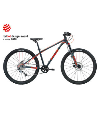 Frog Frog, MTB 69, Metallic Grey/Neon Red