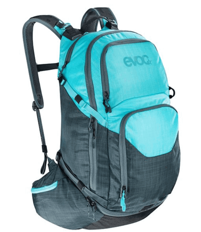 EVOC EVOC, Explorer Pro 30L, Backpack, Heather Slate/Neon Blue