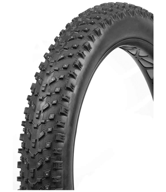 Vee Rubber, Snow Avalanche Studded, Tire, 26''x4.00, Folding, Tubeless Ready, Silica, 120TPI, Black