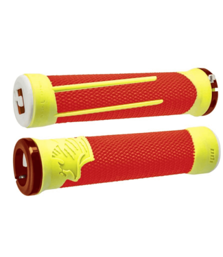 ODI, AG-2 Signature, Grips, 135mm, Orange/Yellow/Orange, Pair