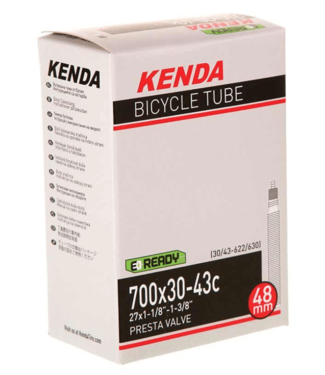 Kenda, Presta-Removable Valve Core, Tube, Presta, Length: 60mm, 700C, 45-50C
