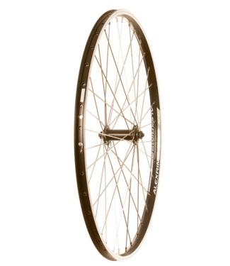 Wheel Shop, Alex ACE-17 Black/ Shimano Tourney Black/ Stainless Silver 2, Wheel, : Rim, 26'' / 559, Front, Holes: 36H, QR, 100mm