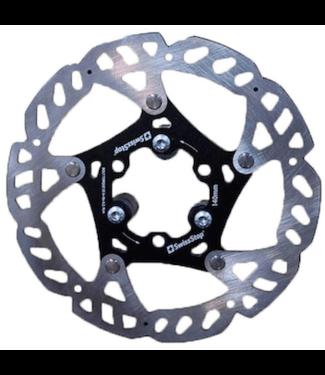 SwissStop, Catalyst, Disc Brake Rotor, ISO 6B, 180mm, Silver/Black