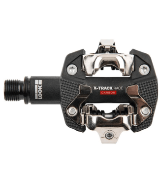Look, X-Track Race Carbon, MTB Clipless Pedals, Carbon body, Cr-Mo axle, 9/16'', Black