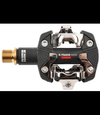 Look, X-Track Race Carbon Ti, MTB Clipless Pedals, Carbon body, Titanium axle, 9/16'', Black
