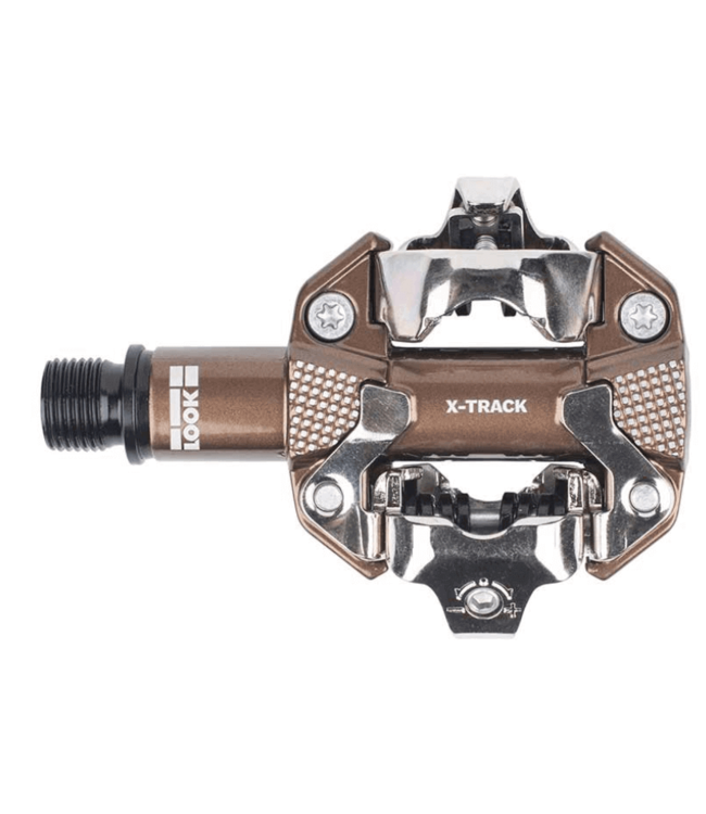 Look, X-Track Gravel Limited Edition, Pedals, Body: Aluminum, Spindle: Cr-Mo, 9/16'', Bronze, Pair