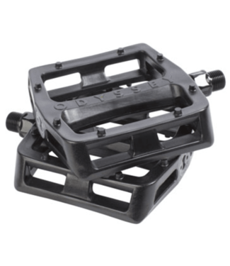 "Odyssey, Grandstand Pedals - Platform, Composite/Plastic, 9/16"", Black"