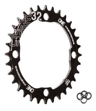 OneUp, 104 BCD Chainrings, 32T, Black