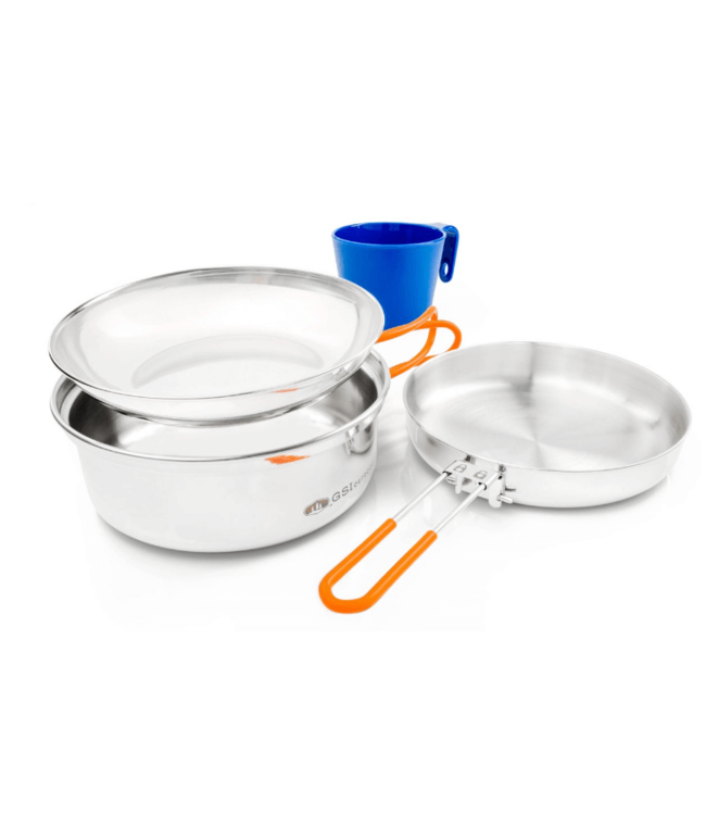 GSI Outdoors GSI Outdoors, Glacier Stainless 1-Person Mess Kit