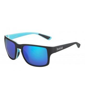 Bolle Bolle, Slate Sunglasses, Matte Black & Blue/Polarized Offshore Blue