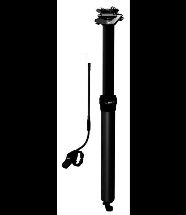 Kind Shock, LEV Ci, Dropper Seatpost, 27.2mm, 340mm, Travel: 65mm, Offset: 0mm, Remote: Handlebar, Black