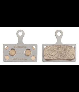 Shimano Shimano, G04Ti Metal Disc Brake Pad, Silver
