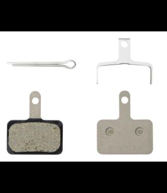 Shimano Shimano, B01S Resin Brake Pad - RESIN PAD(B01S)  PAD SPRING  W/3 TYPES OF SPLIT PIN, Silver