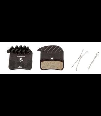 Shimano Shimano Metal Pad (H03C) W/fin & Spring w/split pin, Black