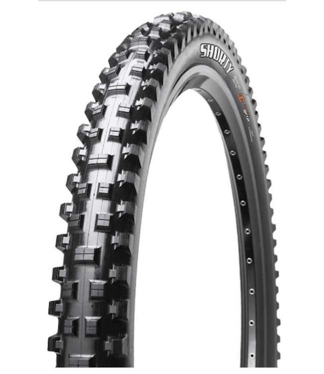 Maxxis Maxxis, Shorty, Tire, 29''x2.50, Folding, Tubeless Ready, 3C Maxx Grip, 2-ply, Wide Trail, 60TPi, Black, DH casing