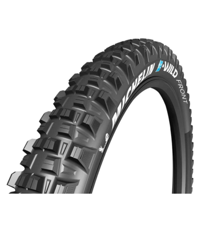 Michelin, E-Wild Front, Tire, 27.5''x2.60, Folding, Tubeless Ready, E-GUM-X, GravityShield, 3x60TPI, Black