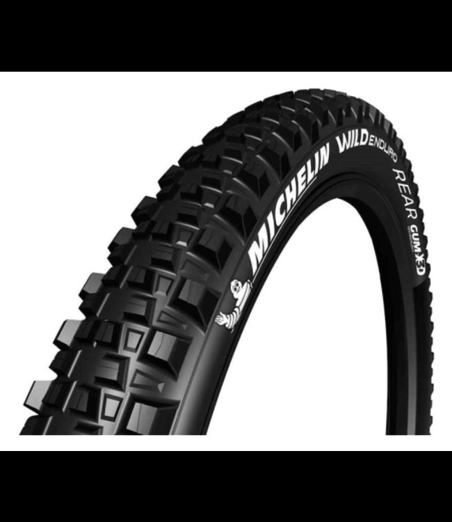 Michelin, Wild Enduro Rear, Tire, 27.5''x2.60, Folding, Tubeless Ready, GUM-X, GravityShield, 3x33TPI, Black