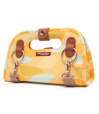 PO PO, Campo Streetville Clutch Handlebar/Rack Top Bag, Feathers, Yellow