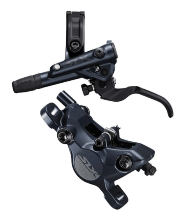 Shimano Shimano, SLX  BL/BR-M7100, MTB Hydraulic Disc Brake, Front, Post mount, Disc: Not included, 425g, Black, Set