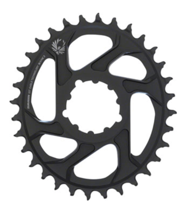 SRAM SRAM, X-Sync 2 Oval, 32T Chainring, 11/12sp, BCD: Direct Mount, Aluminum, Black, 3mm offset