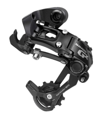 SRAM Sram, GX Type 2, Rear derailleur, 10sp., Long cage, Black