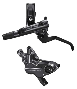 Shimano Shimano, Deore BL-M6100 / BR-M6120, MTB Hydraulic Disc Brake, Front, Post mount, Disc: Not included, Black