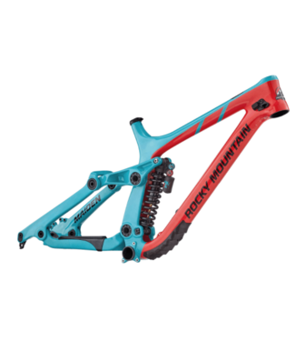 Rocky Mountain Bicycles Rocky Mountain, Maiden Carbon Frame, Medium, Red/Turquoise Blue, 2018