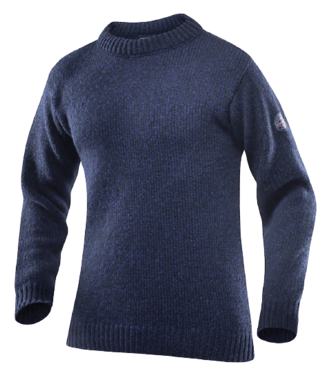 Devold Devold, Nansen Sweater Crew Neck, Dark Blue Melange, M