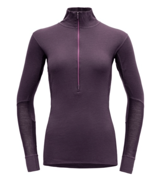 Devold Devold, Ws Wool Mesh Half Zip Neck, Fig Purple, S