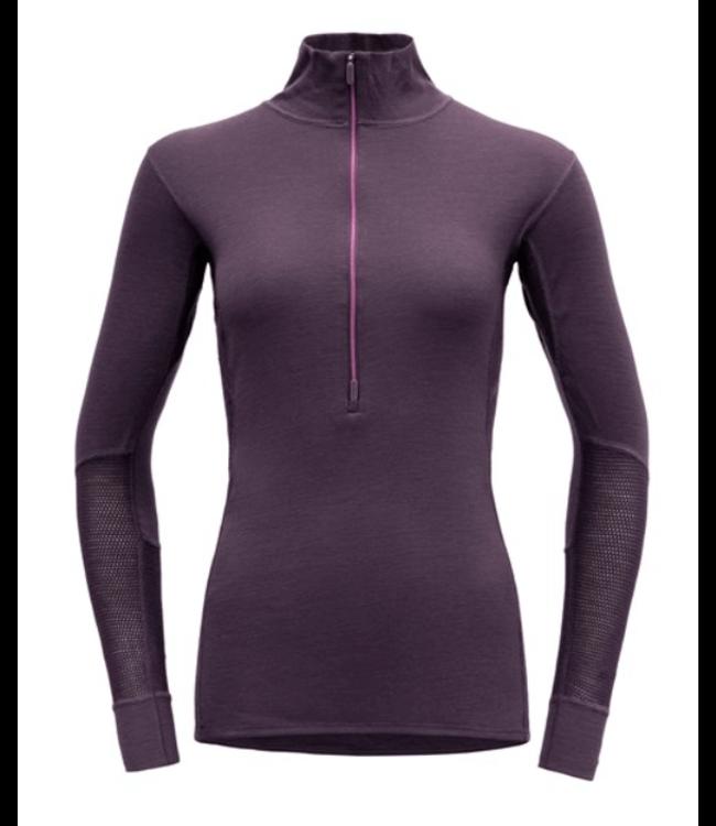 Devold Devold, Ws Wool Mesh Half Zip Neck, Fig Purple, S