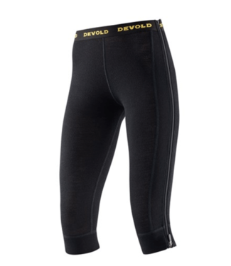 Devold Devold, Ws Wool Mesh Zip Off Capri, Black, M