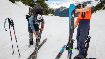 How to Choose, Trim and Attach Ski Climbing Skins