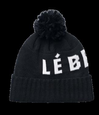 Lé Bent Lé Bent, Logo Pom Pom Beanie, Black
